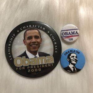 Obama Pin Set